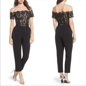 Eliza J Off the Shoulder Black Jumpsuit